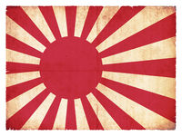 Grunge flag of the Japan marine