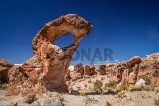 Strangely shaped rocks in Bolivia