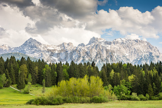Karwendel mountains in the alps of Bavaria