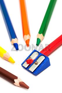pencils and sharpener