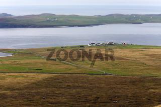 Rural environment at the coast of Mainland, Shetland Islands, Scotland