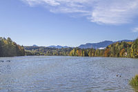 Isar reservoir near Bad Toelz
