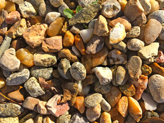 Texture of multicolored gravel