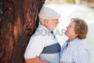 Happy Senior Couple Enjoying Each Other in The Park.
