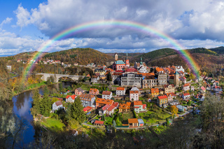 Rainbow in Castle Loket - Czech Republic