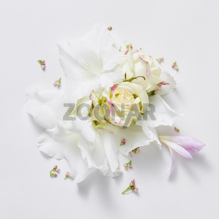 white background from flowers