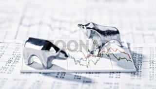 Bulle und Bär und Börsenkurse