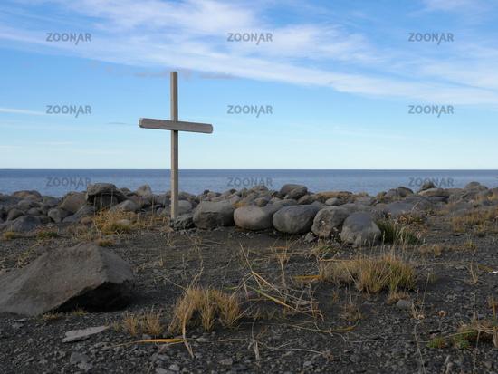 beach near Kopasker at the north coast of Iceland