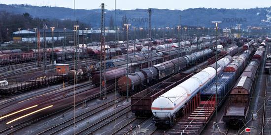 train formation yard Vorhalle, Hagen, Ruhr Area, North Rhine-Westphalia, Germany, Europe