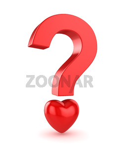 Question Mark with Heart