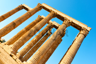Columns of Zeus Temple in Athens
