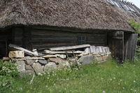facade of an old historic farm, Estonia, Baltic Country, Europe