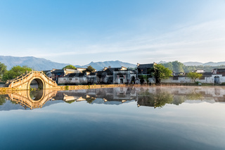 chinese ancient villages in early morning