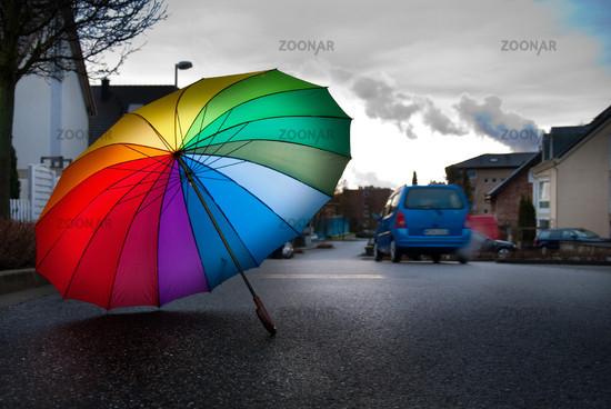 colorfull umbrella
