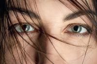 stared female eyes