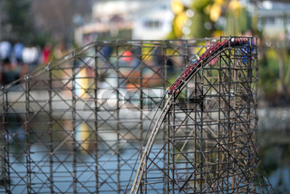 Miniature Wooden Roller Coaster