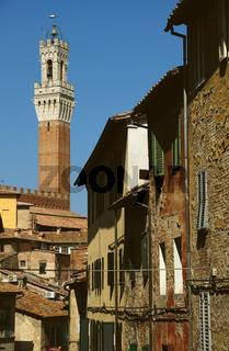 Gasse in Siena - Toskana - Italien