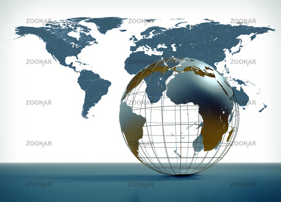 3D globe illustration