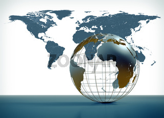3D globe illustration