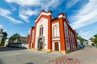 Extorior of a Synagogue in Ruzomberok Slovakia in summer