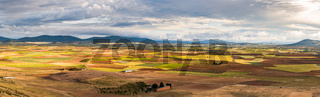 Farmland and rural landscape in Spain,panorama.