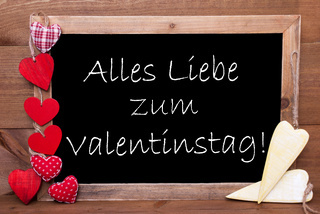 Chalkbord, Hearts, Valentinstag Means Valentines Day