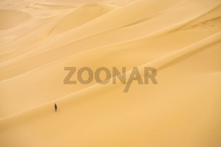 Khongor Els Sand Dune Person Relative Scale Gobi