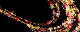 Wonderful Christmas panorama background design illustration with stars