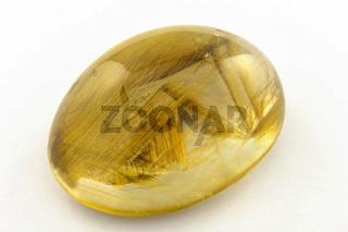 Rutilated quartz cabouchon