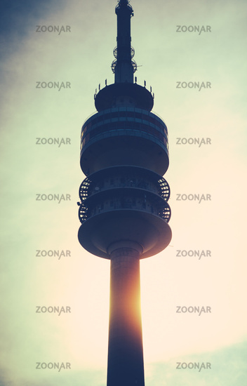 Communications Tower At Sunset