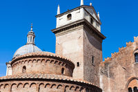 Rotonda di san lorenzo and Clock Tower in Mantua