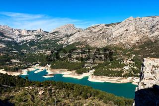 Guadalest Reservoir. Spain