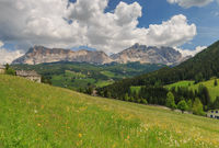 Panoramic view of Val Badia in the Italian region of South Tyrol
