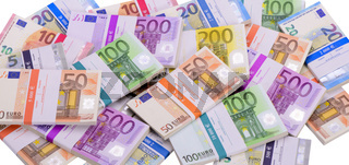 Euro Banknoten im Bündel