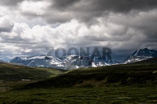 Gewitter über dem Dovrefjell, Norwegen