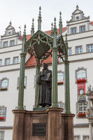 Luther monument in front of the town hall
