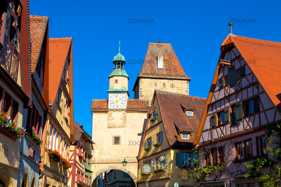 Rothenburg ob der Tauber, Bavaria, Germany.