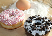 Home bakingfresh baked donuts