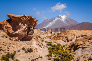 Mountains and desert landscape in sud lipez, Bolivia