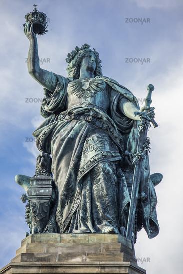 Niederwald monument with Germania statue in Rüdesheim am Rhein, Germany