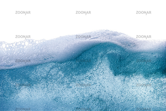 Blue water wave abstract background isolated