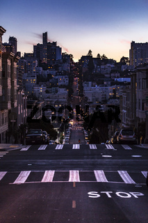 After sunset San Francisco Street