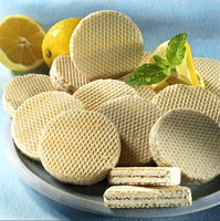 wafer with lemon
