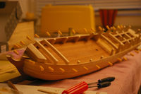 Building of a model ship