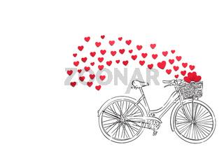 Biking to the love.
