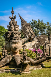 Sculptures in Buddha Park