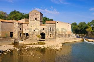 Saint-Thibery Wassermühle - Saint-Thibery watermill, Languedoc-Roussillon