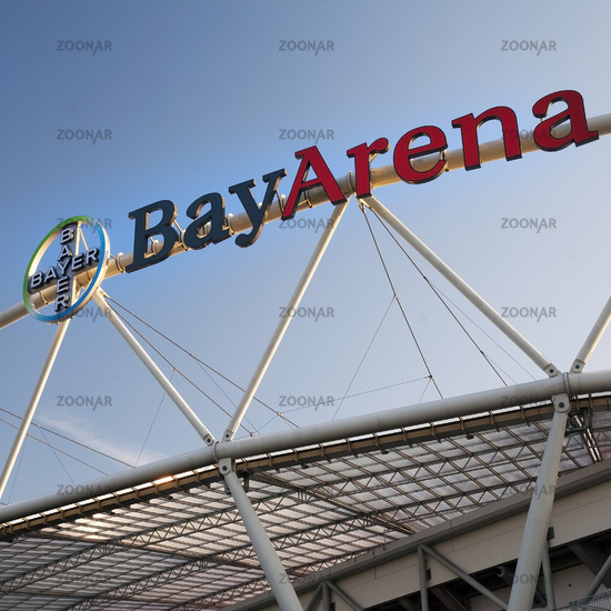 BayArena, football stadium of Bundesliga club Bayer Leverkusen, Leverkusen, Germany, Europe