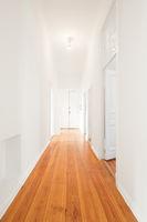 empty corridor in newly renovated aparment - interior