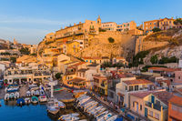 Marseille, France - August 03, 2017: Fishing boats in harbor Vallon des Auffes